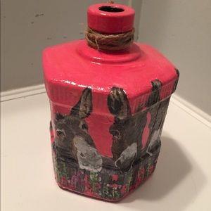 """Glass Donkey Vase 6.5""""x6.5"""" Price Firm"""